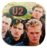 U2 - 'Group in Field' Square Badge